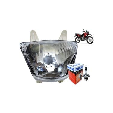 Bloco Ótico Globo Farol xre 300 xre300 Original Honda Wagner + lâmpada farol Philips Original H4 12v 60w55
