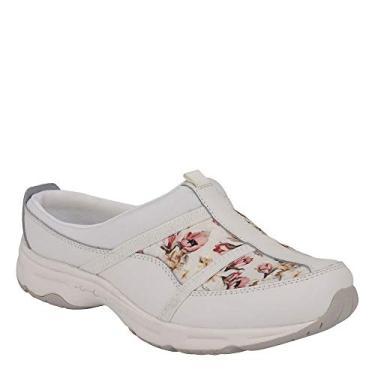 Easy Spirit Mule feminina Argyle, White Floral, 8 Wide