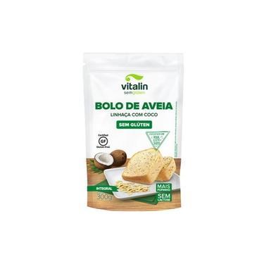 Mistura para Bolo de Aveia e Linhaça com Coco Integral sem Glúten 300g - Vitalin