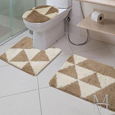 Imagem de Jogo de Tapetes para Banheiro 3 Peças Jolitex Absolut Element