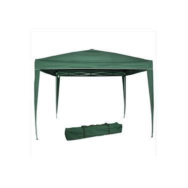 Tenda Articulada Gazebo 3x3m Articulado Alumínio Praia Camping Com Bolsa-Verde