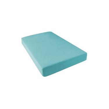 Lençol Avulso Solteiro Com Elástico Box Conjugado ALT 43 140 Fios Azul