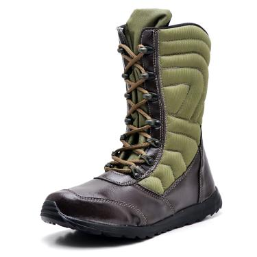 Bota Cano Alto Top Franca Shoes Verde/Café  masculino