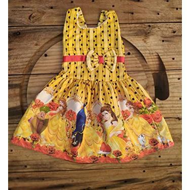 Vestido Infantil Temático A Bela e a Fera