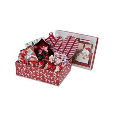 Cesta De Natal Divertida Decoração Natal Chocolate 53 Itens