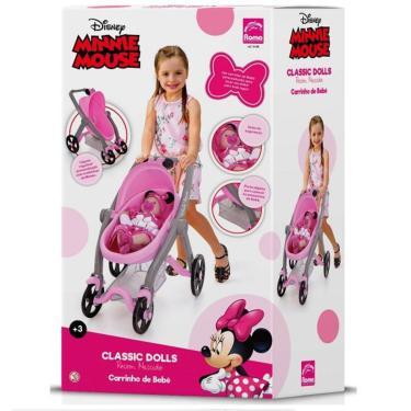 Imagem de Carrinho Para Boneca Classic Dolls Minnie Mouse Roma 5168