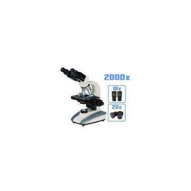 Microscópio Biológico Binocular LED DI-136B Aumento 2000x