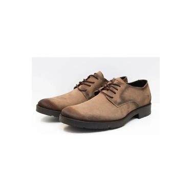 Sapato Tomez Cavalera Couro Rústico Impermeável Marrom