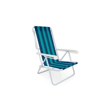 Cadeira Reclinável 8 Posições Praia Mor Cores Sortidas
