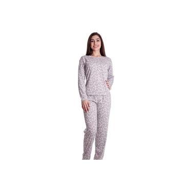 Pijama Plus Size Feminino Malha Estampada Variada