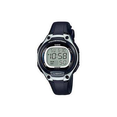 402982b16c1 Relógio Feminino Casio Digital LW2031AVDF - Preto Prata