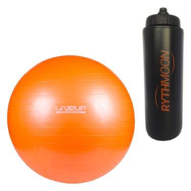 b193748e10490 Kit Bola Para Yoga Pilates Fisio Overball Liveup Ls3225 25cm + Squeeze  Automático 1lt