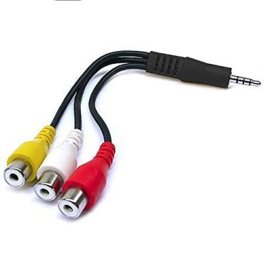 Cabo Adaptador P2 3.5mm Macho X 3 Rca Femea Audio Estereo