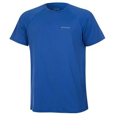 Camiseta Columbia Aurora Manga Curta Masculina - Azul P