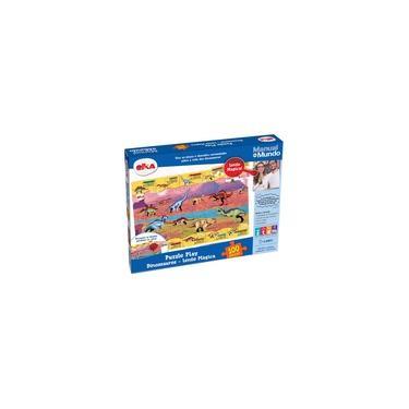 Imagem de Puzzle Play Dinossauros 100 Peças Manual Do Mundo - Elka Brinquedos