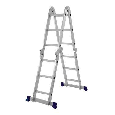 Escada Dobrável Em Alumínio 12 Degraus Mor 5131