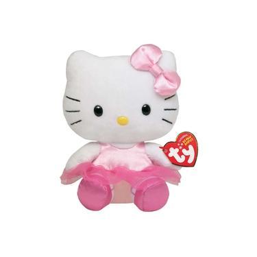 Imagem de Boneca Pelúcia Hello Kitty Bailarina 16cm Beanie Babies Ty
