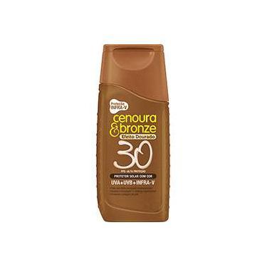 Protetor Solar Cenoura e Bronze com Cor Efeito Dourado FPS 30 - 110ml