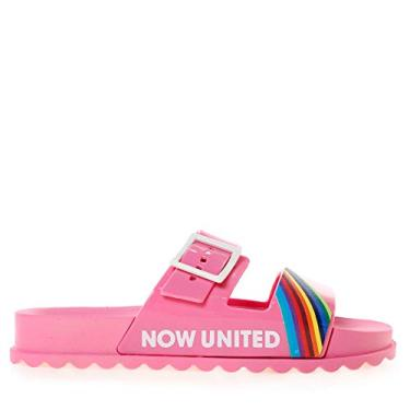 Tamanco Flatform Infantil Grendene Now United Pop Rosa 28