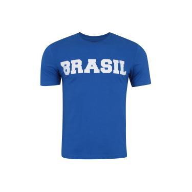 2f132e8076 Camiseta do Brasil Fan 2018 nº 10 Adams - Masculina - AZUL Adams