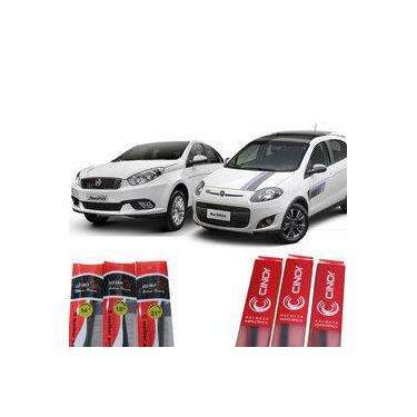 Kit Par Palheta Silicone Limpador Parabrisa Dianteiro Fiat Grand Siena E Nova Palio 2012 - 2017