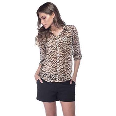 5fb3056404 Camisa Feminina Guess Onça
