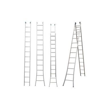 Escada Extensiva 3 Em 1 Aluminio 2 X 12 - 24 Degraus Alumasa