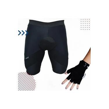 Kit de Ciclista - Bermuda Térmica de Ciclismo Acolchoada + Luva de Proteção Para Ciclismo