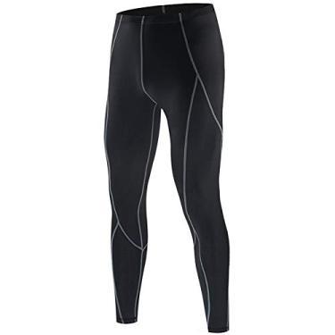 Jersey de ciclismo, Andoer Calça de compressão masculina Sports Baselayer Workout Active Collants Leggings Yoga Running Ciclismo Calças Fitness