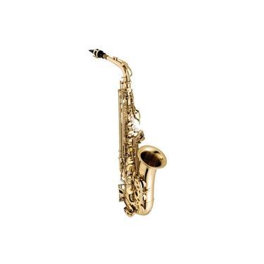 Imagem de saxofone alto vogga vsas701 com acabamento laqueado acompanha case termico
