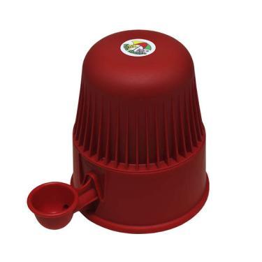 Bebedouro Vida Mansa Light Polipropileno PP Vermelho para Raças Pequenas - 2 L