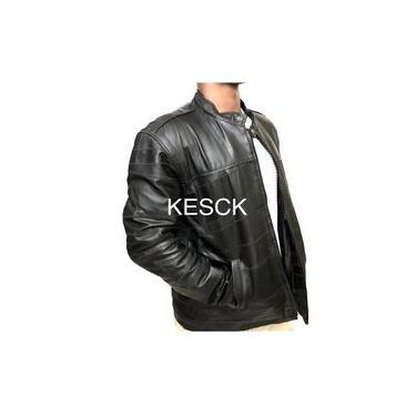Jaqueta de Couro Legítimo Esportiva Masculina KESCK COURO