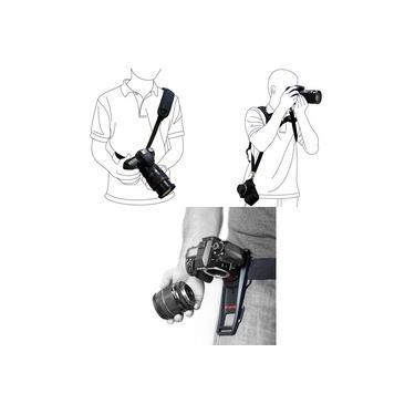 KIT Alça De Ombro Dupla + Alça De Ombro Simples Quick Strap Correia + Cinto B-GRIP Para Câmera Canon Eos Rebel T5i
