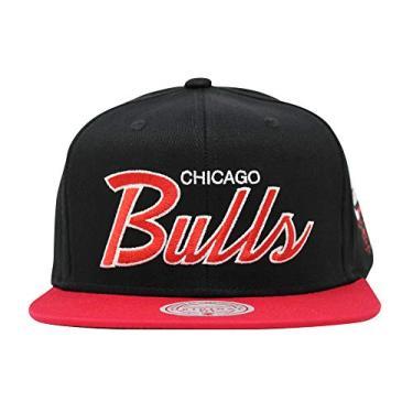 Mitchell & Ness Boné com aba reta, Chicago Bulls, tamanho �nico