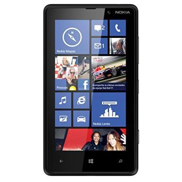 Nokia Lumia 820 RM-824 8GB desbloqueado GSM 4G LTE Windows Phone 8 celular - Black (Sem Garantia)