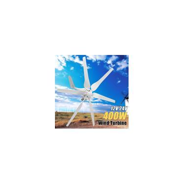 Grande Promoção 400 W Gerador Eólico dc 12 V / 24 V 6 Lâminas De Fibra Gerador de Turbinas Eólicas Auto Ajustar Kit Gerador de Energia Em Casa