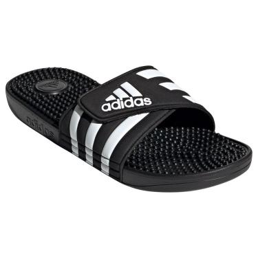Chinelo Adidas Adissage Unissex EX0200, Cor: Preto/Branco, Tamanho: 36/37
