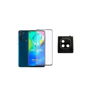 Película De Vidro 3D 5D 9D Motorola Moto G9 Power + Película Nano Lente Câmera