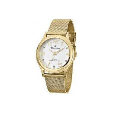 cb9f2ad178c Relógio Analógico Feminino Champion Fashion CN29007H Dourado - Pulseira de  Aço