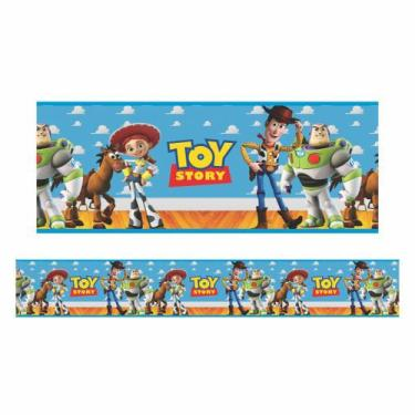 Imagem de Faixa Decorativa Auto-Adesiva Tamanho 120X15cm Tema Toy Story Fdmenino