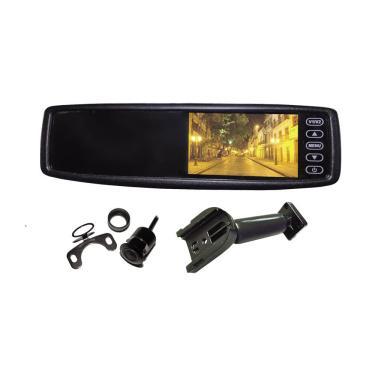Retrovisor Monitor Orbe 550-Ap1 Com Câmera De Ré E Sensor De Estacionamento De 4 Pontos Visor 4.3 Polegadas