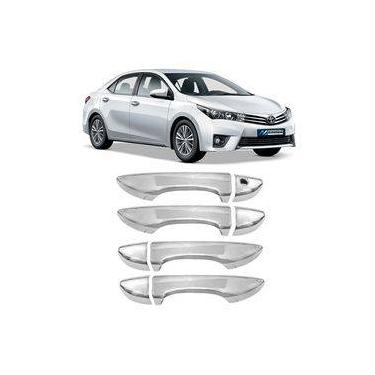 Kit Aplique Cromado Corolla 2015 á 2018 Capa Maçaneta