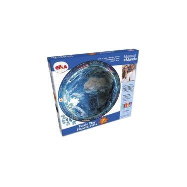 Imagem de Puzzle Play Manual do Mundo Planeta Terra 214 Peças - Elka