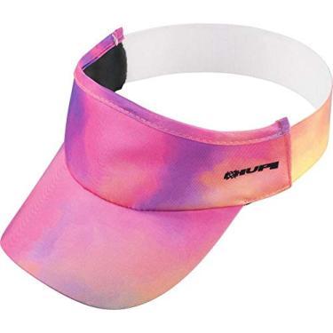 Viseira para Corrida Hupi Tie-dye Rosa/roxo, Cor: Rosa/roxo