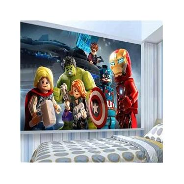 Adesivo Infantil de Parede Lego Vingadores