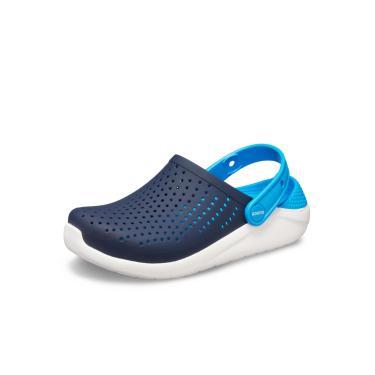 Sandália Crocs LiteRide Kids ™ Azul/Branco  menino
