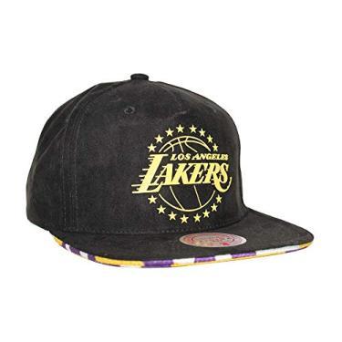 Mitchell & Ness Boné ajustável Los Angeles Lakers LA LUX snapback, preto