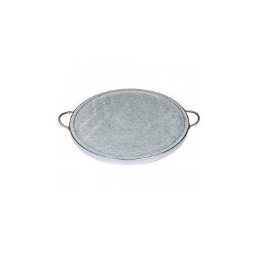 Imagem de Forma de Pedra Sabão para pizza com alças de inox 37 cm - Leônidas