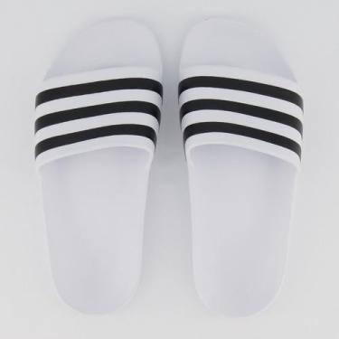 Imagem de Chinelo Adidas Adilette Aqua Logo Branco