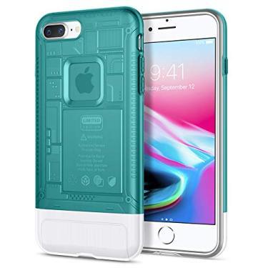 Capa Spigen Apple Iphone 7/8 Plus Edição Limitada 10 anos Imac G3 Classic C1 Azul (bondi Blue)